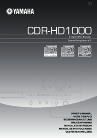 To view the document Yamaha CDR-HD1000 Owner's Manual